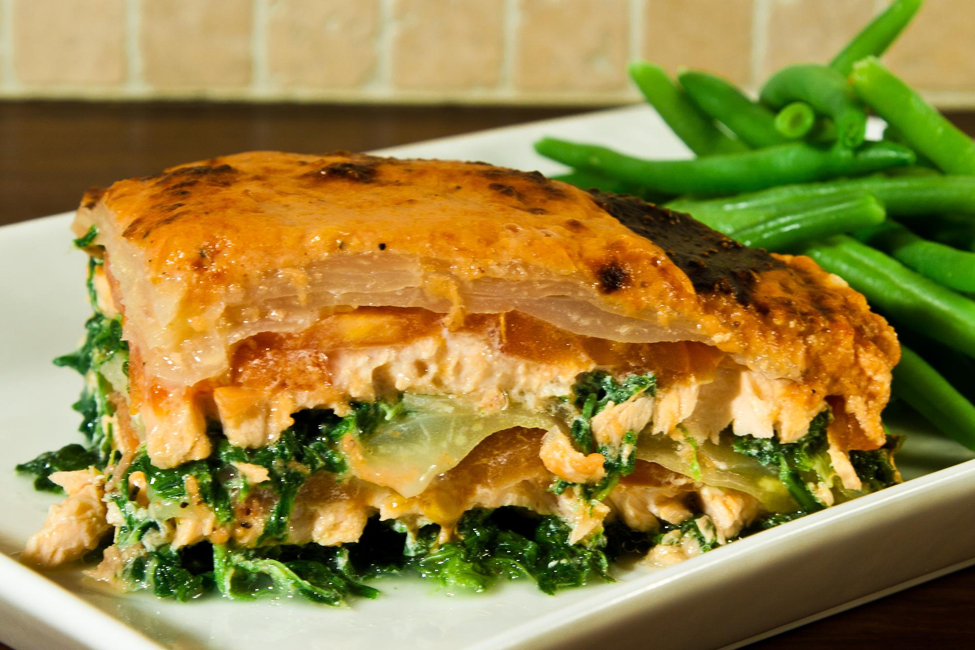 Lakse lasagne 3