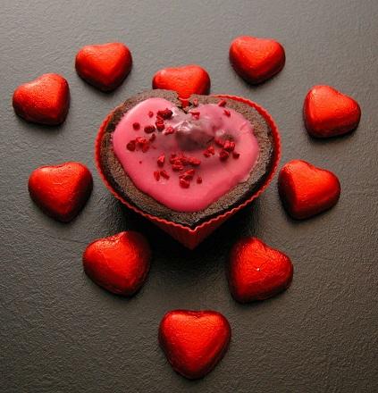 Valentines LCHF muffins