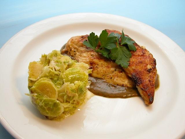 Kylling med fløderosenkål