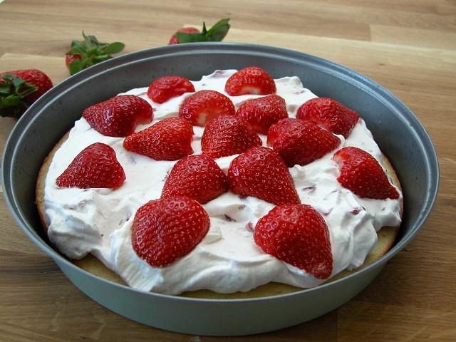Jordbærtærte på grillen