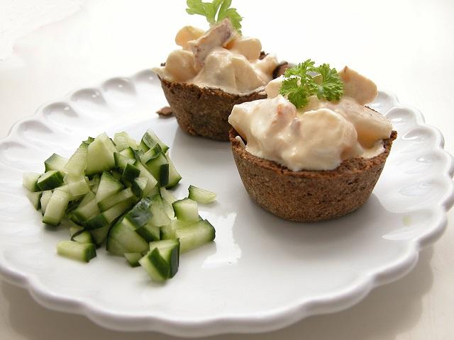 Tarteletter med høns i asparges – LCHF