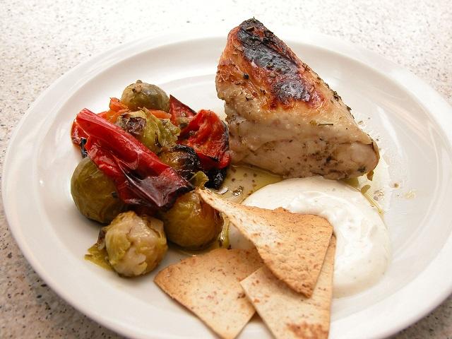 Græsk kyllingefad med tortillachips