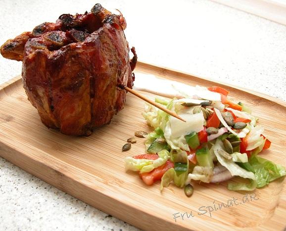 Røget ribs med salat