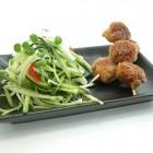 Asiatiske fiskespyd med squashspaghetti - mini