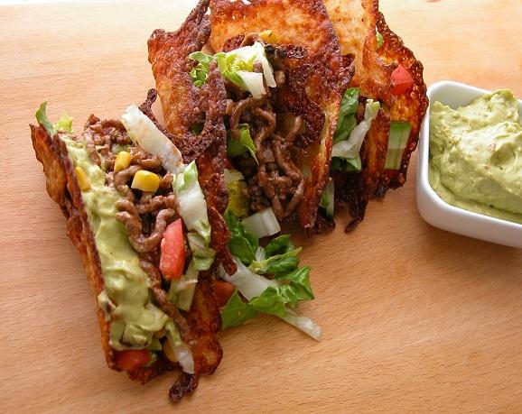 Ostetacos med oksekød